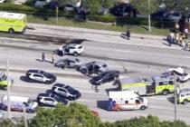 Reportan al menos nueve personas heridas en un accidente automovilístico en North Miami Beach