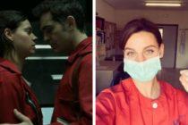 Actriz de «La casa de papel» ahora trabaja como enfermera y atiende personas con COVID-19