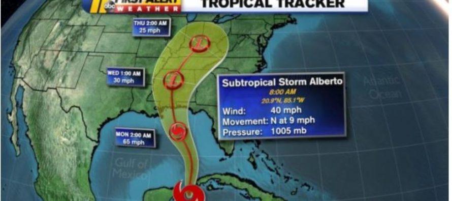 Alerta de inundaciones en el Sur de la Florida por Tormenta Alberto