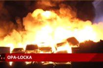 Incendio de grandes proporciones en chatarrera en Opa-locka