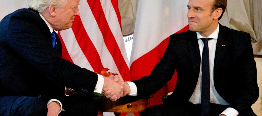 Macron y Trump se reunieron en el marco de la Cumbre del G7