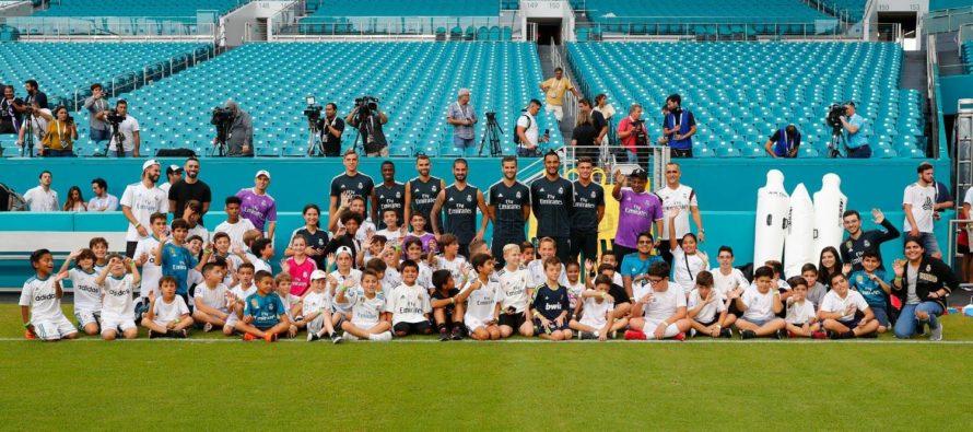 Una centena de niños de fundación en Miami conocieron a jugadores del Real Madrid