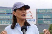 Nikki Haley: «El mundo debe darse cuenta, hay un dictador en Venezuela»