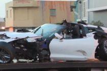Corvette produjo choque múltiple con tres heridos en Miami