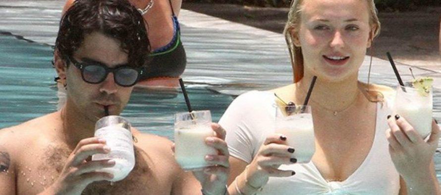 Joe Jonas y Sophie Turner muy acaramelados en Miami