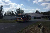 Bombero de Miramar herido tras choque de camión contra línea de alta tensión