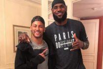 LeBron James conoció a Neymar y a Mbappé en París