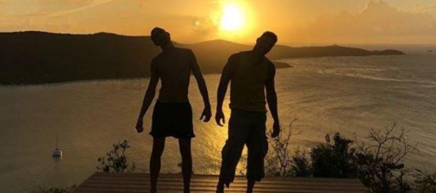 Ricky Martin y su esposo pasaron por Miami en sus vacaciones de verano