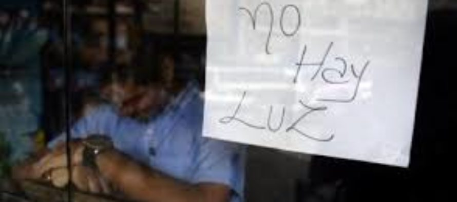 Siguen apagones eléctricos en Maracaibo y Caracas