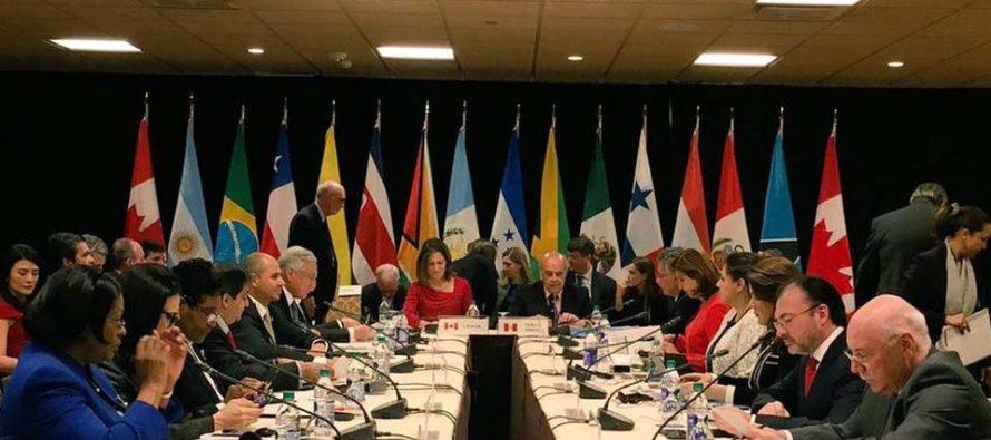 Grupo de Lima evaluará situación de Venezuela el viernes