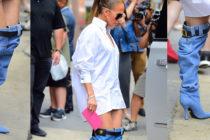 Jennifer López salió a la calle sin pantalones causando furor