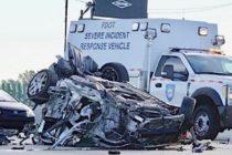 Muere conductor tras aparatoso accidente en la Interestatal 95