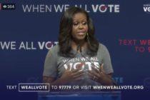 Michelle Obama participó en un evento en Miami para promover el voto en la entidad