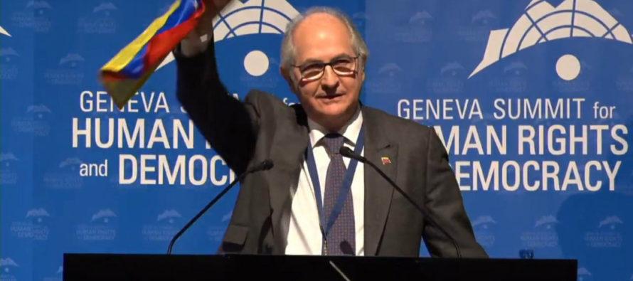 Como positivo y alentador para Venezuela calificó Antonio Ledezma conversaciones en la ONU
