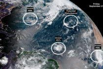 Centro Nacional de Huracanes sigue  sistemas meteorológico en el Atlántico que podría convertirse en depresión tropical la semana que viene