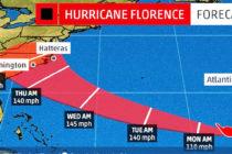 1.200 vuelos cancelados por el Huracán Florence
