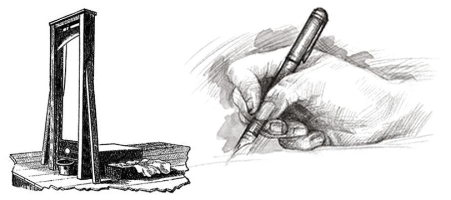 La tinta también mata