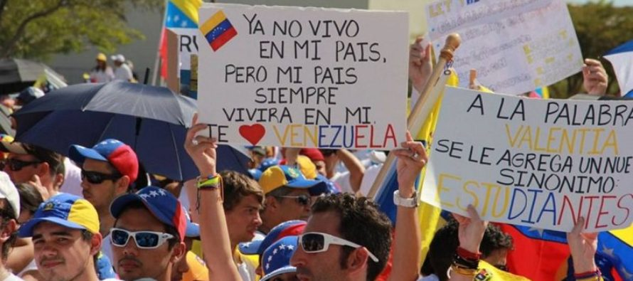 Exiliados venezolanos no se dejan amedrentar por Pedro Carreño