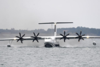 Avión anfibio completó su primer despegue desde el agua