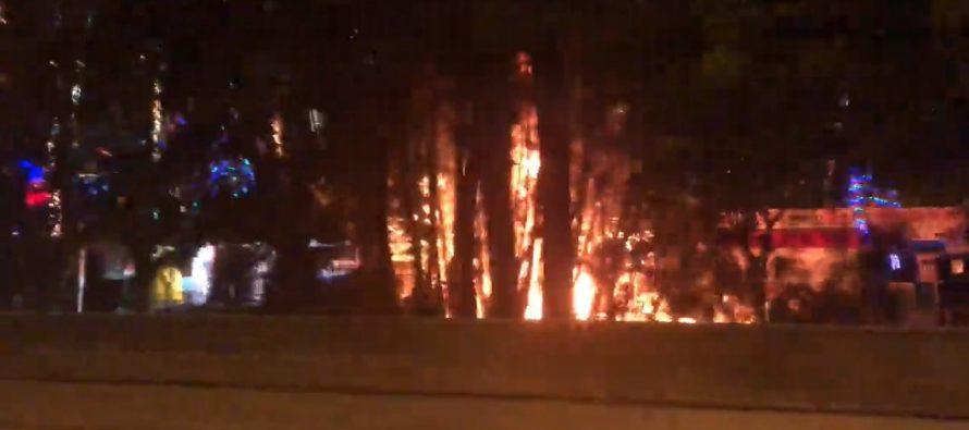 Bomberos apagaron incendio en el Bosque Encantado de Santa Claus