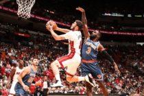 Heat ganó el primero en Miami ante Knicks