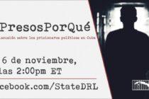 Departamento de Estado pide a Cuba liberación de presos políticos por Facebook