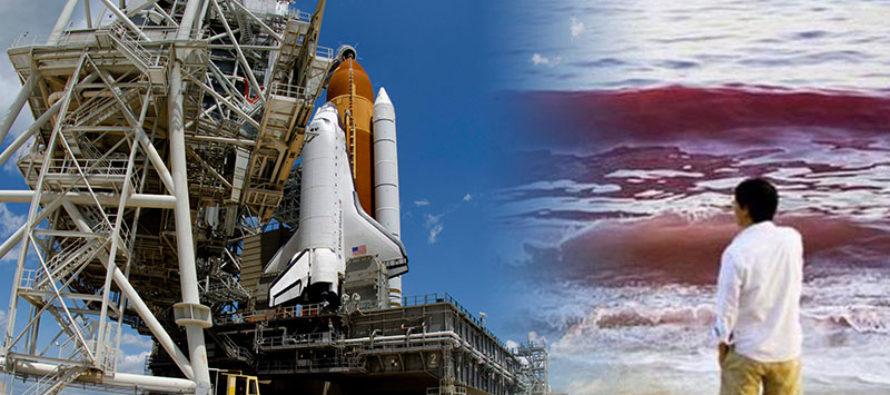 La marea roja llega a la «Costa Espacial» sin intenciones de viajar