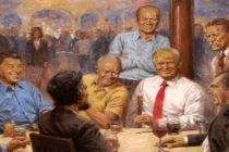 Pintura deTrump en la Casa Blanca genera polémica en redes sociales
