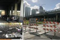 Manifiestan en el centro de Miami por problemas de salud entre la población sin hogar