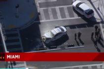 Policía de Miami resultó herido en accidente automovilístico