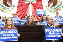 Diputados mexicanos expresan rechazo a visita de Maduro
