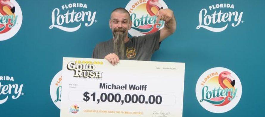 Hombre ganó $ 1 millón en juego de raspaduras de la Lotería de Florida
