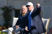 Donald Trump y la leyenda del golf Jack Nicklaus jugaron en Florida