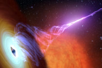 Descubren agujero negro con fuente de chorros de plasma