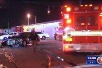Violento choque en semáforo de Miami dejó tres heridos