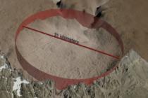 Descubren cráter de 31 kilómetros en zona helada de Groenlandia