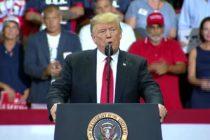 En Florida Trump reiteró que usará la fuerza contra caravana migrante