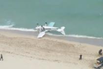 Avioneta con cuatro personas a bordo se estrelló en la playa de Haulover