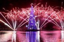 Sí, ¡ya llegó! La Navidad se enciende de la mano del árbol flotante más grande del mundo
