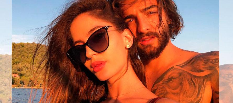 Capturan el momento en que Maluma y su novia Natalia visitan tiendas en centro comercial de Miami