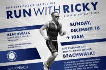 No se pierda la oportunidad de correr este domingo junto al comisionado Ricky Arriola