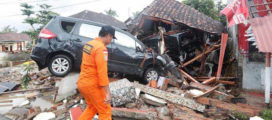 Tsunami en Indonesia deja un saldo de 222 fallecidos y casi 843 heridos