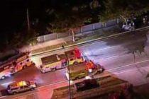 Sobrevivió a pesar de que su auto se partió en dos en North Miami