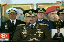 Fuerza Armada de Venezuela brindó su apoyo público a Nicolás Maduro