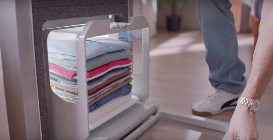 Así es Foldimate, el robot que dobla 25 prendas en cinco minutos