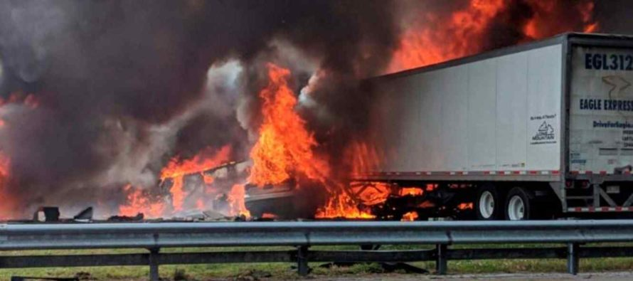 Tragedia en Florida: 7 muertos tras choque y derrame de combustible