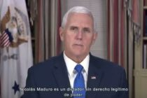 """Vicepresidente de EEUU al pueblo venezolano """"Estamos con ustedes"""""""