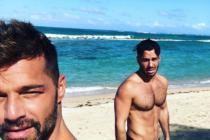 Ricky Martin recibió el 2019 junto a su primera hija con su esposo