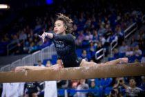 La gimnasta Katelyn Ohashi sorprendió las redes sociales con esta rutina perfecta