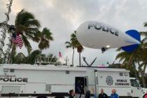 ¿Viola la Ley de Florida? Policía de Miami Beach usa dirigibles para vigilar grandes multitudes